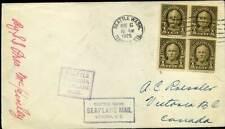 409313) USA Seeplane Mail (Wasserflugzeug), Seattle 1925 m. Viererblock Nr. 259