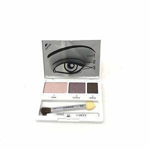 Clinique Colour Surge Eye Shadow Trio - Mirrored Compact with Brushes & How To