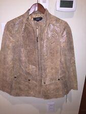 NWT, Alfani Suede Leather Jacket Animal Snake Print Size, 1X  $169.00