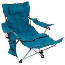 Campingstuhl / -liege gepolstert abnehmbare Fußstütze verstellbar blau 100 kg
