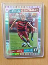 DONRUSS SOCCER 2015 RED BALL CARD ANDRES INIESTA 23/49 #15 FIELD GENERALS