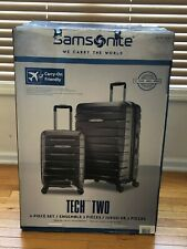 "NEW Samsonite Tech 2.0 2-Piece Hardside Luggage Set, Gray (27"" and 21"")"