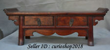 """16.8"""" Old Chinese Huanghuali Wood Dynasty 2 Drawer Table Desk Classic furniture"""