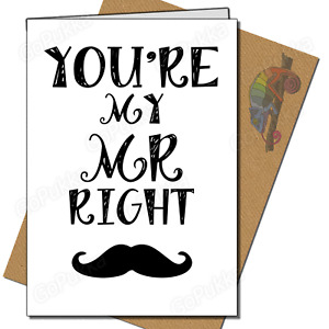 You're My Mr Right – Valentines Card