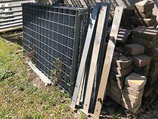 7 Pezzi grigliato per recinzione acciaio zincato cm h 200x120  + 8 Pali Sostegno