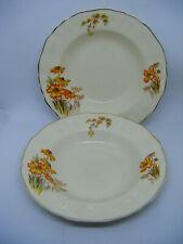More details for 2 x vtg cereal bowls j & g meakin sunshine rp 561073 reg'd sol 391413 yellow