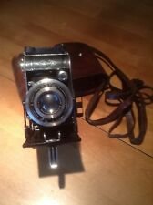 Agfa Billy Compur folding bellows camera w/leather case