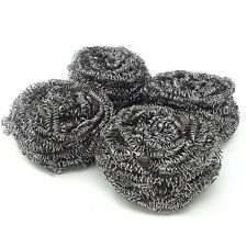 4 Pcs Stainless Steel Kitchen Cleaning Sponges Scouring Pad Steel Wool Scrubbers