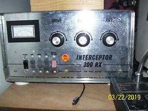 EXTREMELY RARE WORKING Kem-Tron Interceptor 300RX Sweep Tube Amplifier