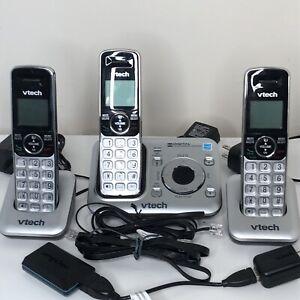 V-tech Cordless Phones Answering Machine System Set Of 3 Model CS6429 Magic Jack