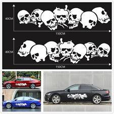 2x Car Body Side Skull Graphics Vinyl Decal Sticker For Car Exterior Accessories
