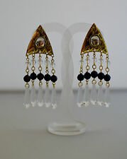 Crystal Earrings Vintage Costume Jewellery
