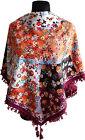 MAGNIFIQUE NEUF coloré Folk Style Vintage étole châle foulard PETIT Fleurs