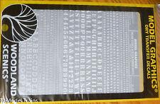 Woodland Scenics #752 White -Dry Transfer Alphabet & Numbers - Stencil/Block Rom