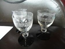 Drinkware/Stemware Art Deco Clear Glass