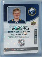 2018-19 Upper Deck MVP Credentials Access #NHL-MI Entry Level Casey Mittelstadt