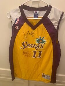 AUTHENTIC AUTOGRAPHED L.A. SPARKS JERSEY #11 SIGNED BY PENNY TOLER & #25