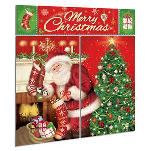 Magical Christmas Tree Santa's Visit Party Scene Setter Wall Decorating Kit