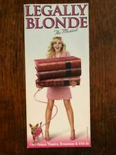 Legally Blonde the musical ad/flyer Broadway NYC 2007 Laura Bell Bundy