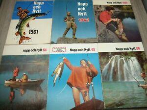 ABU NAPP OCH NYTT CATALOGUES 1961 62 63 64 65 & 66 SWEDISH TIGHT LINES