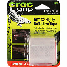 Croc Grip DOT C2 HIGHLY REFLECTIVE TAPE 48mmx2m Roll, Red & Silver *Aust Brand