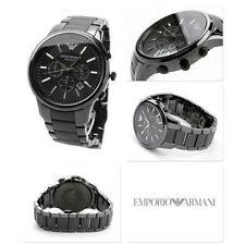 Nuevo Genuino Emporio Armani AR1451 Todo Negro Reloj para hombres Mate de cerámica Reino Unido