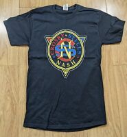 Crosby Stills & Nash Tour T-shirt 2008 Black Small/Medium Rock
