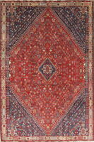 Antique Old Vegetable Dye Collectable Nomadic Tribal Oriental Wool Area Rug 6x9