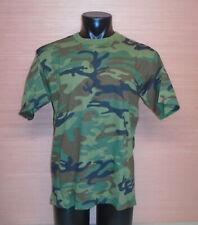 Vintage Woodland Camouflage Ranger Memory Rib Short Sleeve T-Shirt NOS Sz Large