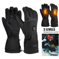 New Electric Powered Heated Gloves Battery Winter Outdoor Work Warmer Gloves GM