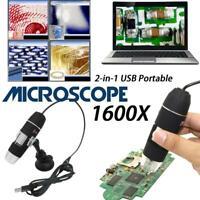 1600X méga Pixels 8 LED numérique USB Microscope loupe électronique Endoscope