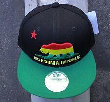 Whang California Classic Black/Rasta Mens Skate Co. Snapback Hat HTCAL-13