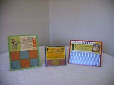 3 VINTAGE CANDY COUNTER PUNCH BOARD TRADE STIMULATORS