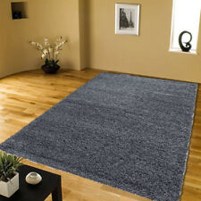 SMALL AND LARGE SHAGGY RUGS BEDROOM ROOM THICK PLAIN SOFT PILE ANTISKID CARPET