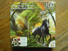 Heavenly Horses jigsaw puzzle 300 Piece (NEW & SEALED) black horse