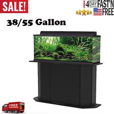 Aquarium Stand 55 Gallon Cabinet Storage Fish Tank Solid Wood Black