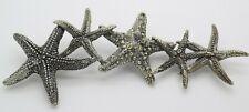Vintage Solid Silver Italian Made LIFE SIZE Starfishes Raspini Brand Hallmarks