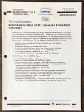 Motorola - Mc68030 2nd-Generation 32-Bit Enhanced Embedded Controller Data Sheet