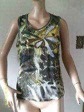 LUISA CERANO Decorated Designer Sequin Sleeveless Top Women's Size US 14
