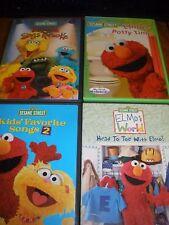 lot of 4 Sesame Street DVDs Sings Karaoke, Songs #2, Head to Toe, Potty Time
