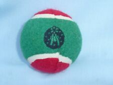 Christmas Wreath TENNIS BALL  Christmas Dog Toy  RED/GREEN  by ZANIES  New!