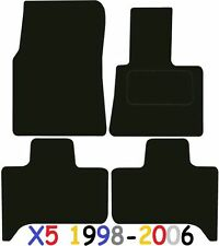 Tailored Deluxe Quality Car Mats Bmw X5 e53 1998-2006 ** Black **