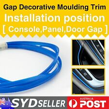 Auto SUV Gap Blue Strip Garnish DIY Point Mouldings Trim Accessory Embedded 16M