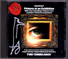 Yuri TEMIRKANOV Signed MUSSORGSKY Picture at an Exhibition Songs Dances Death CD