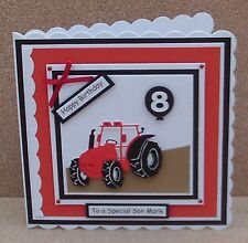 Personalised Tractor Birthday Card Son Grandson 1st 2nd 3rd 4th 5th.... & Verses