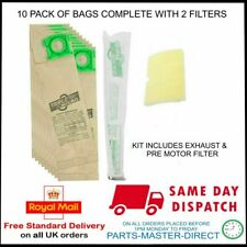 FITS SEBO UPRIGHT X1 X4 X5 EXTRA SERVICE BOX PAPER DUST BAGS x 10 & 2 FILTERS