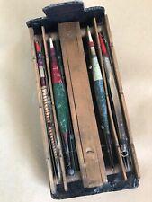 Vintage Fishing - Cased Early Fruitwood Furnished 4 slot Float Winder