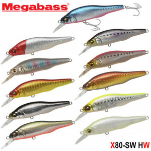 Megabass X-80 SW HW 14 g Assorted Colors SW Sinking Minnow