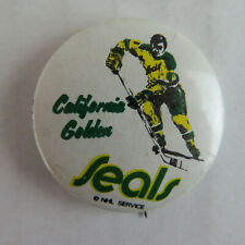 "1960's California Golden Seals 1"" VTG Pinback Button - Hockey CA"