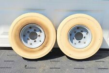 Two Solid Pneumatic Forklift Tires With Rims 17 X 17 X 5 C Hole 3